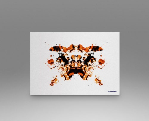 Orange Rorschach Test Print