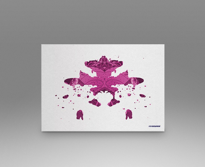 Pink rorschach test print