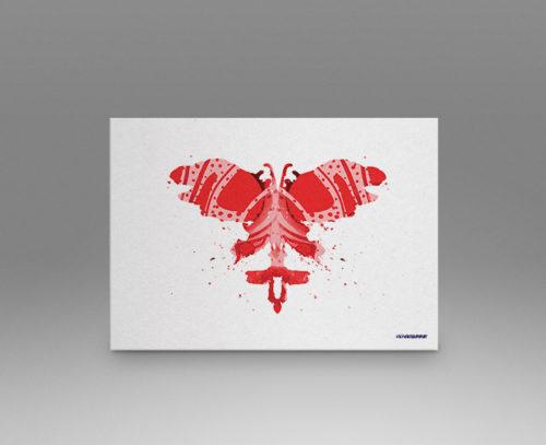Red Rorschach Test Print