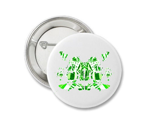 Button - Green Ink 14