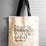 Dont be paranoid - canvas tote bag