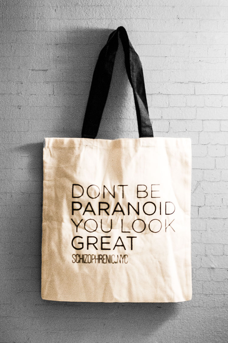 Dont be paranoid - canvas tote bag 1
