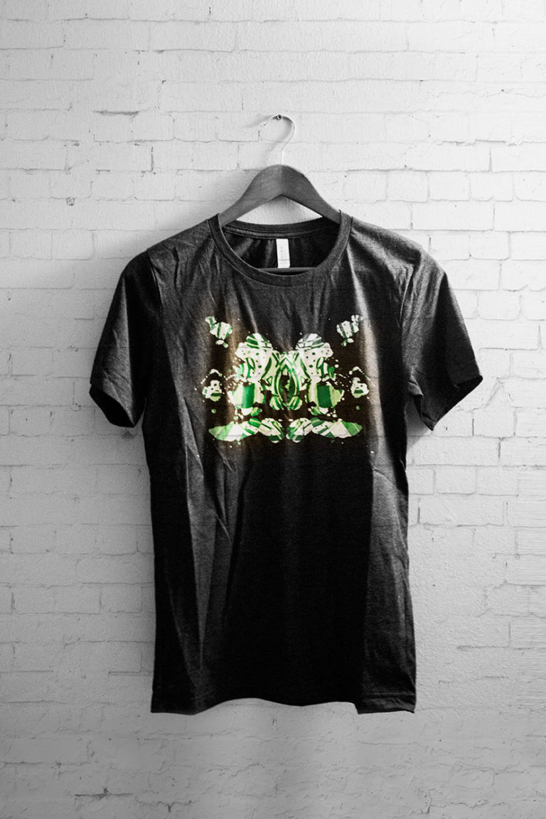 Black Green Ink T-Shirt 1