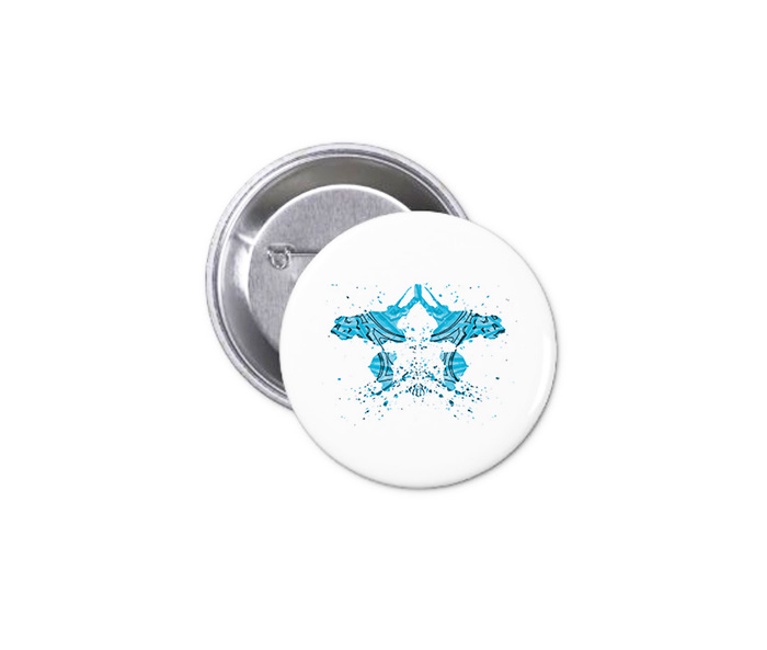 Button - Turquoise Ink 1
