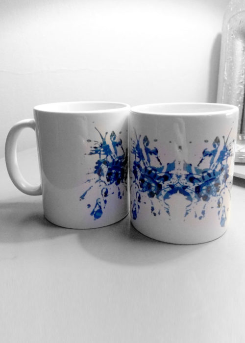 Blue Rorschach Test Ink Blot Mugs 2