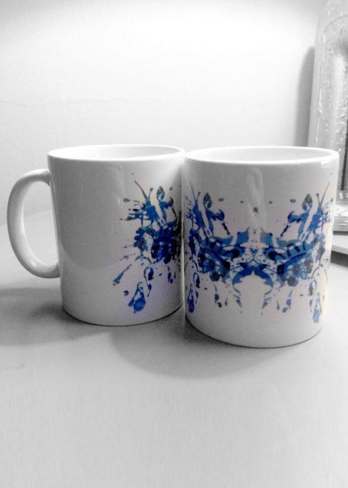 Blue Rorschach Test Ink Blot Mugs 5