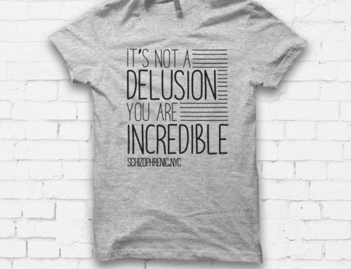 "NEW ""IT'S NOT A DELUSION"" TSHIRT"