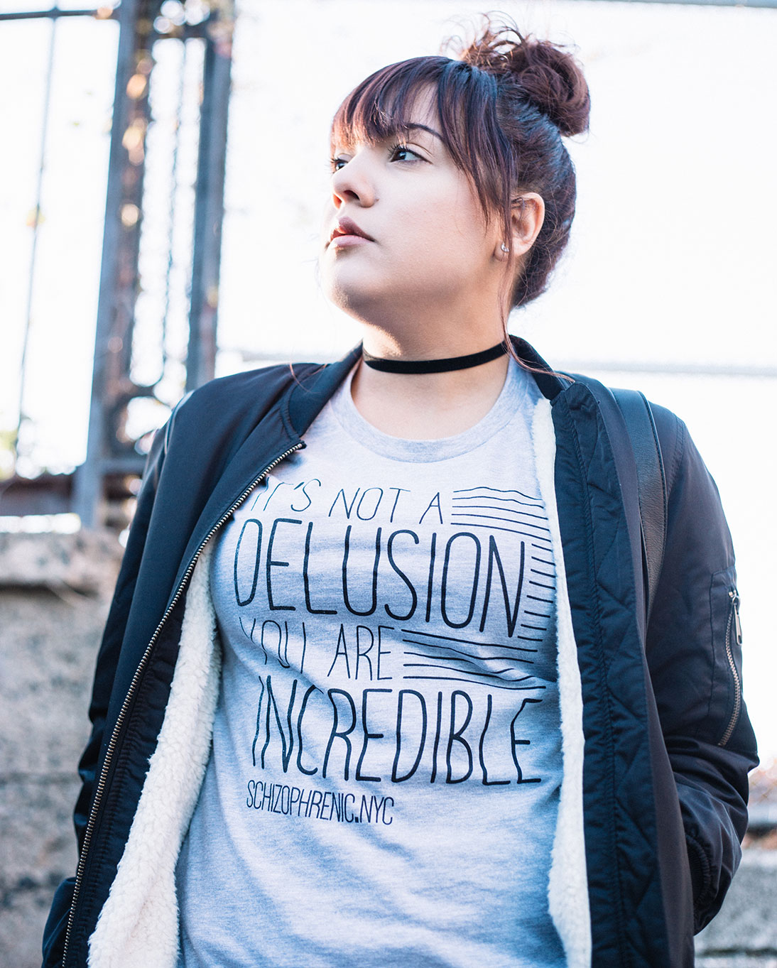 Fashion blogger jacklyn. Lune wears the delusional tee! 5