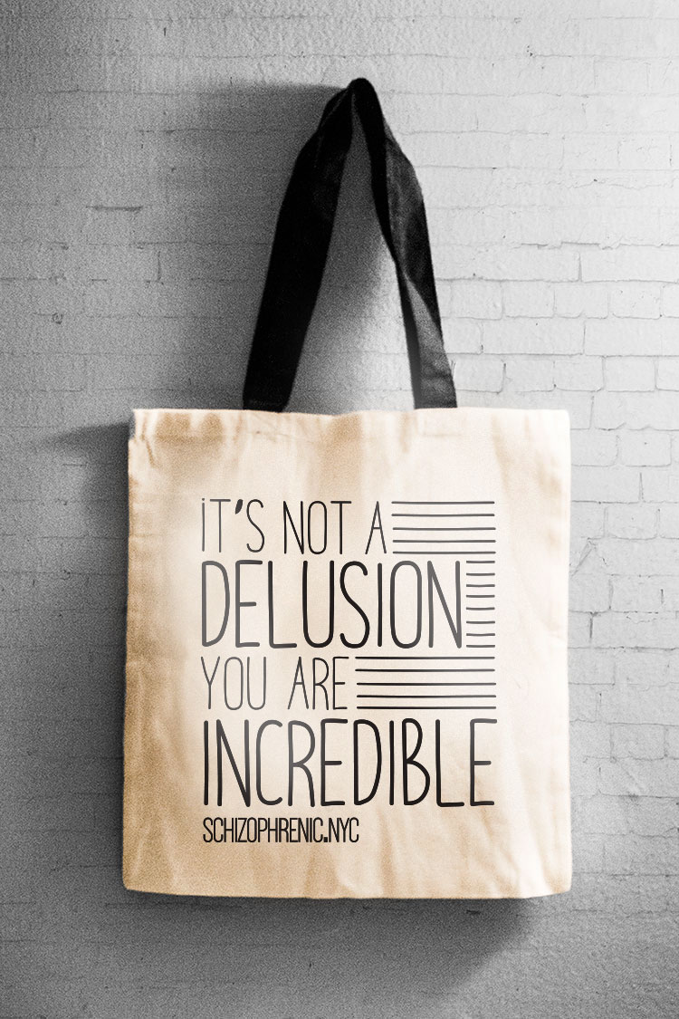 It's not a delusion - canvas tote bag 17