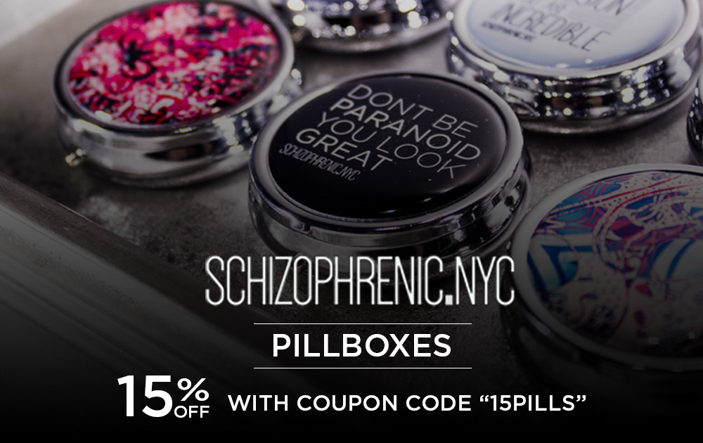 Schizophrenic. Nyc pillboxes restocked with a 15% discount! 1