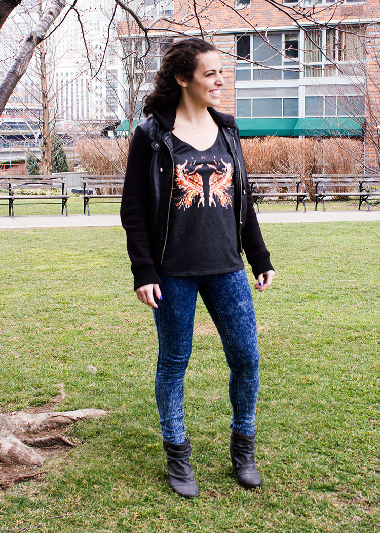 , New Yorker Michelle P. Fire Ink Rorschach Test Tank Photoshoot, Schizophrenic.NYC Mental Health Clothing Brand, Schizophrenic.NYC Mental Health Clothing Brand