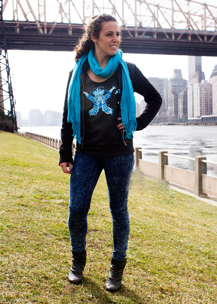 Schizophrenic.NYC photoshoot with New Yorker Michelle P., Schizophrenic.NYC Mental Health Clothing Brand