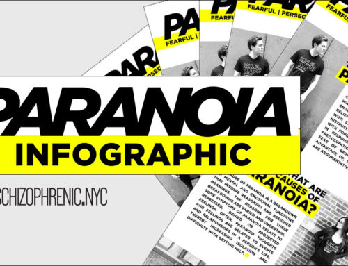Paranoia Infographic by Schizophrenic.NYC