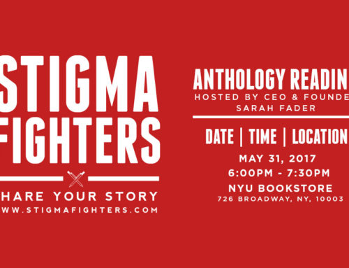 Michelle will be reading an essay at the Stigma Fighters event at NYU!