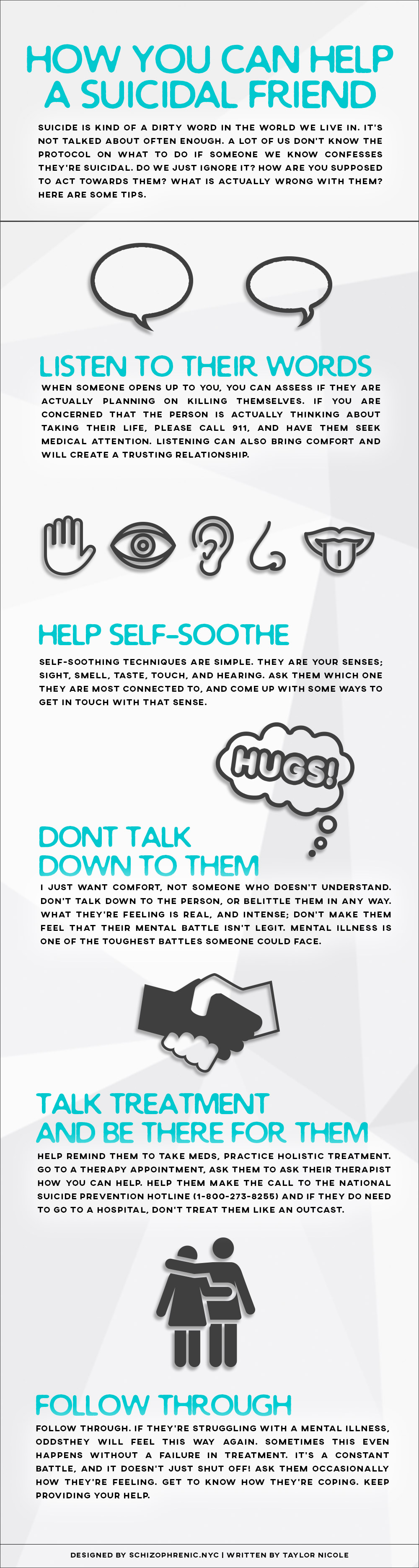 how you can help a suicidal friend infographic | schizophrenic.nyc