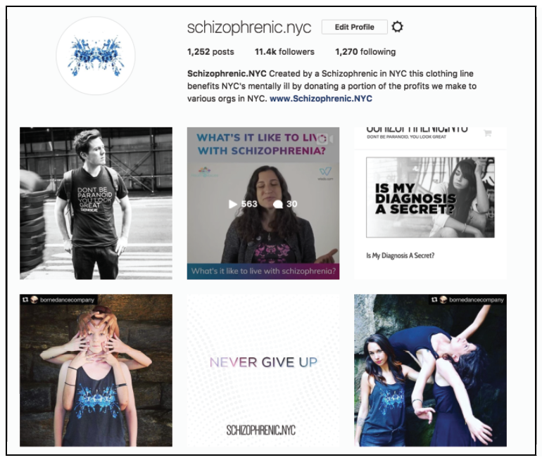 Media Kit, Schizophrenic.NYC Mental Health Clothing Brand