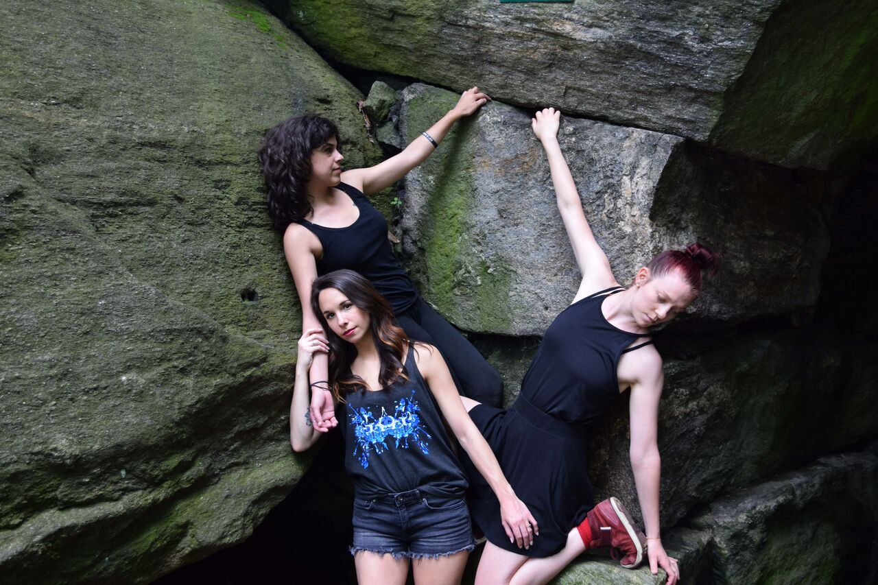 NYC's Borne Dance Company models Rorschach Designs by Schizophrenic.NYC, Schizophrenic.NYC Mental Health Clothing Brand