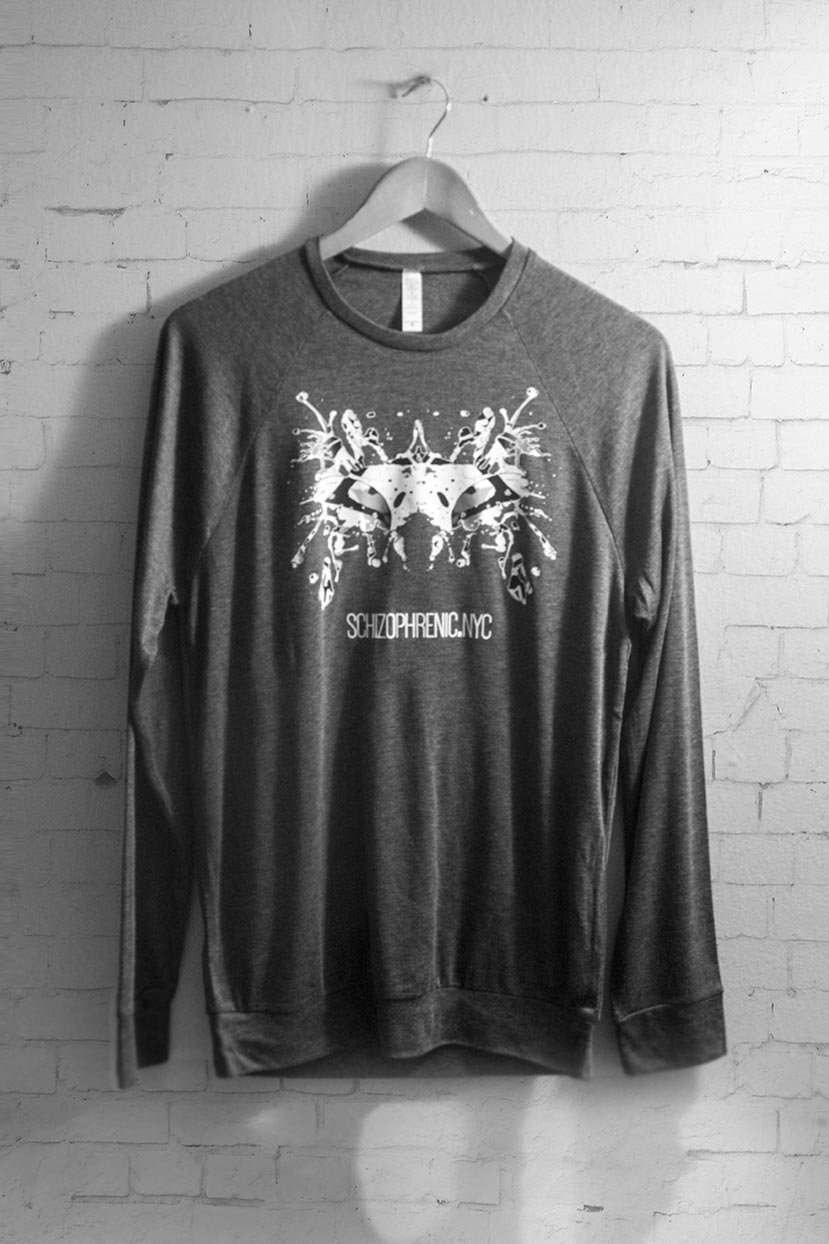 Black & white rorschach test relaxed sweater