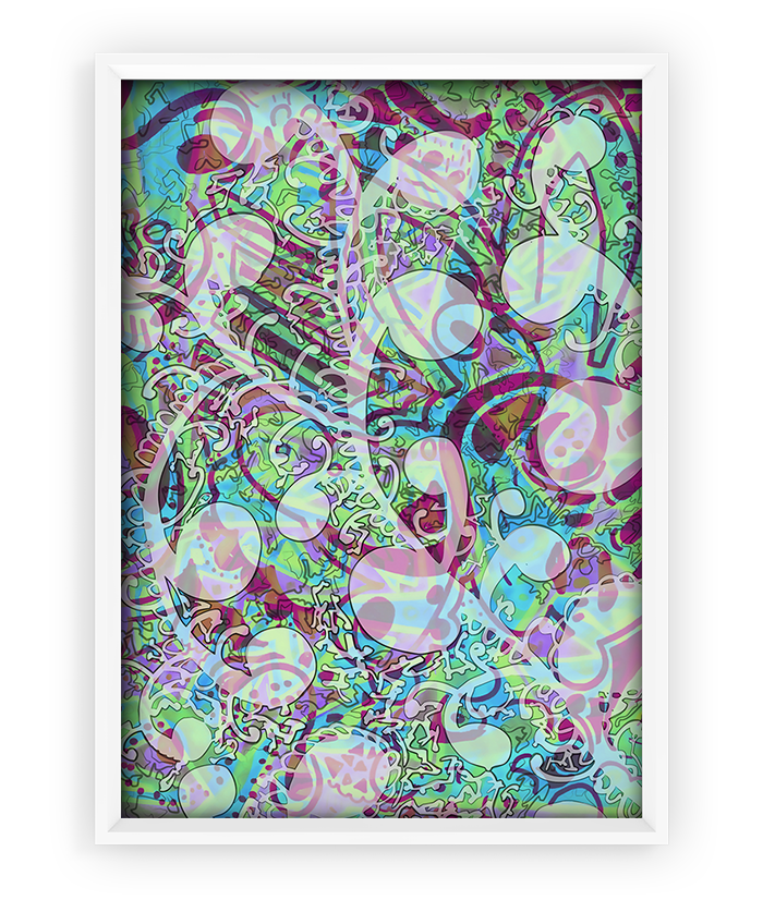 Schizophrenic.NYC creator Michelle Hammer's artwork, Breathe Print – 18″x24″, Schizophrenic.NYC Mental Health Clothing Brand, Schizophrenic.NYC Mental Health Clothing Brand