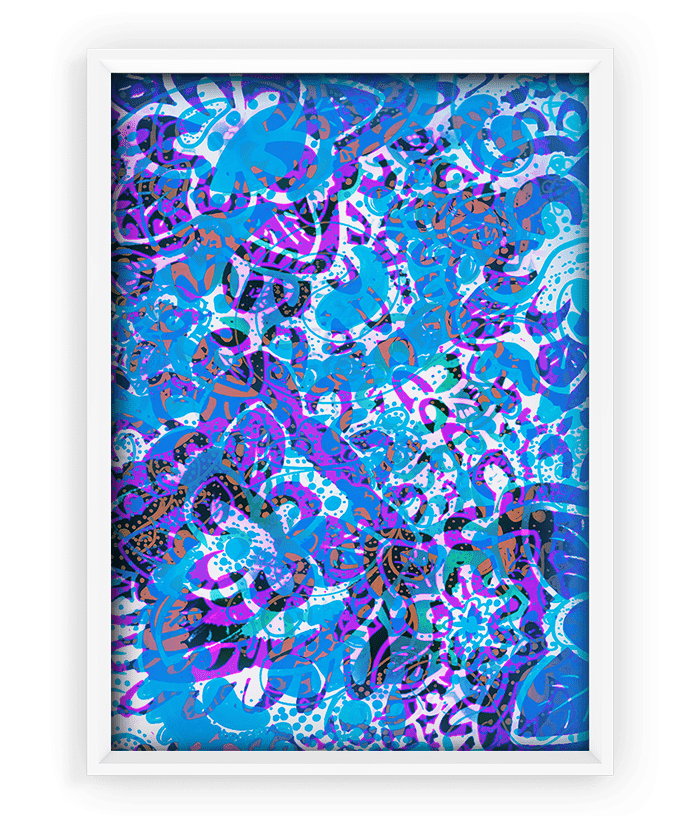 Schizophrenic.NYC creator Michelle Hammer's artwork, Cold Print – 18″x24″, Schizophrenic.NYC Mental Health Clothing Brand, Schizophrenic.NYC Mental Health Clothing Brand