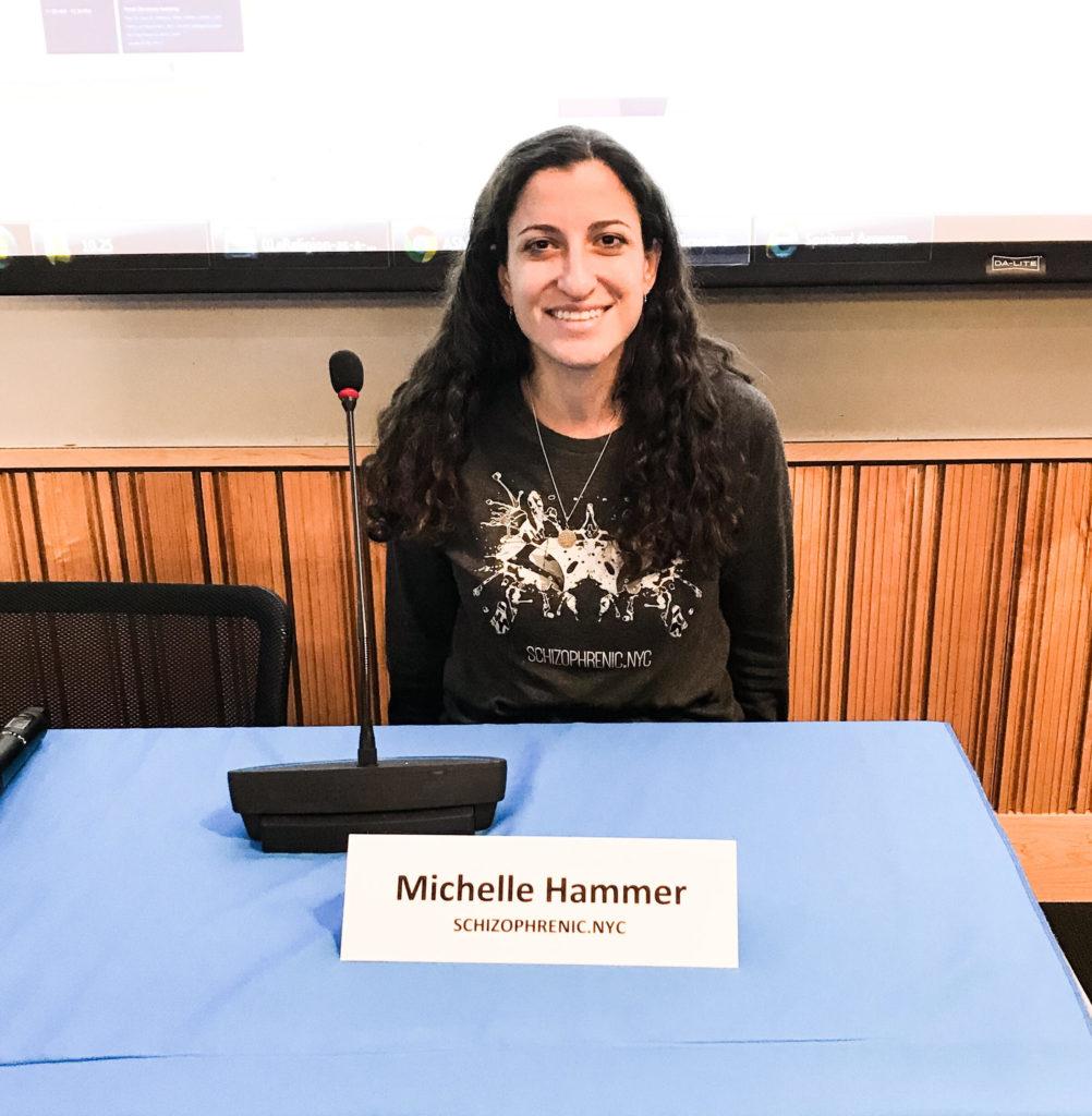 , Schizophrenic.NYC Founder, Michelle, Speaks at Mt. Sinai Hospital, Schizophrenic.NYC Mental Health Clothing Brand, Schizophrenic.NYC Mental Health Clothing Brand