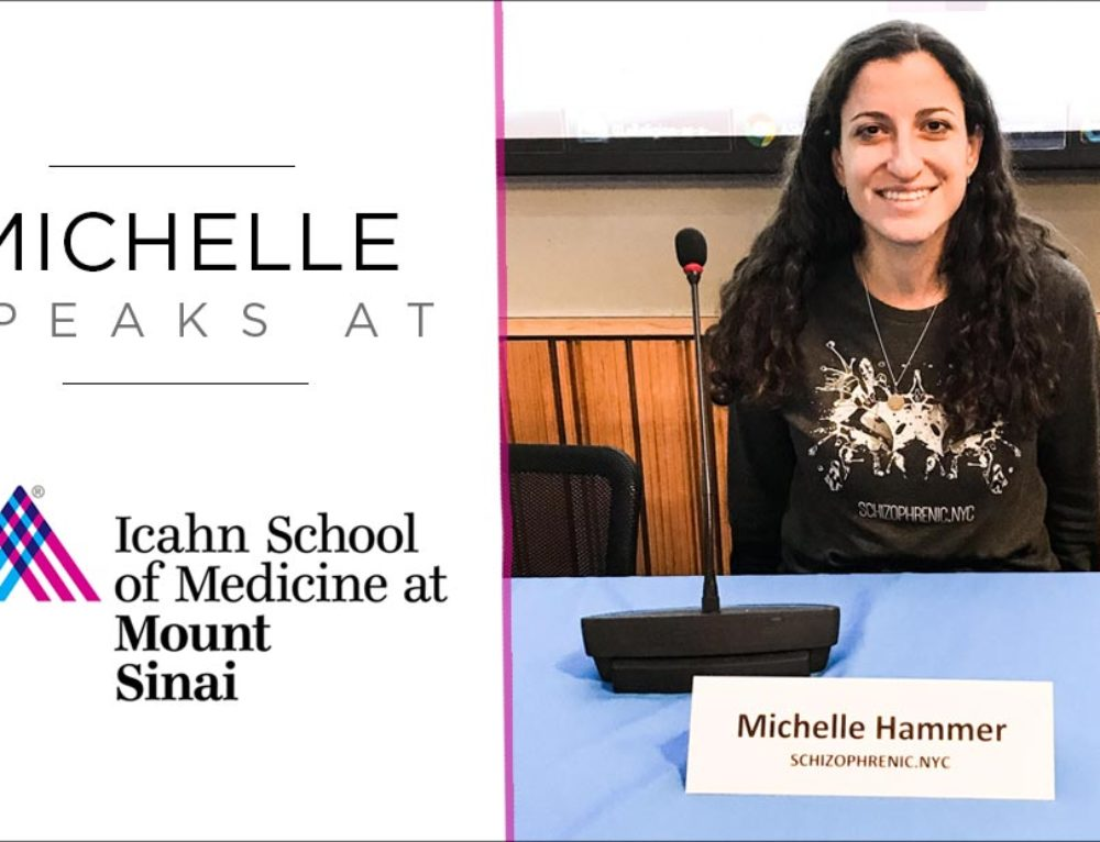 Schizophrenic.NYC Founder, Michelle, Speaks at Mt. Sinai Hospital