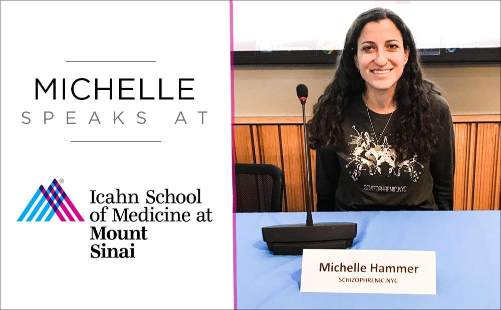 Schizophrenic.NYC Founder, Michelle, Speaks at Mt. Sinai Hospital 18