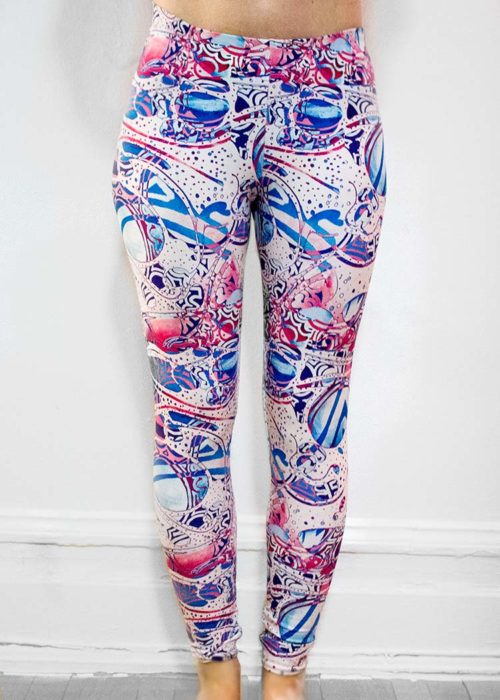 "Michelle's ""Bleach"" Print Leggings 4"