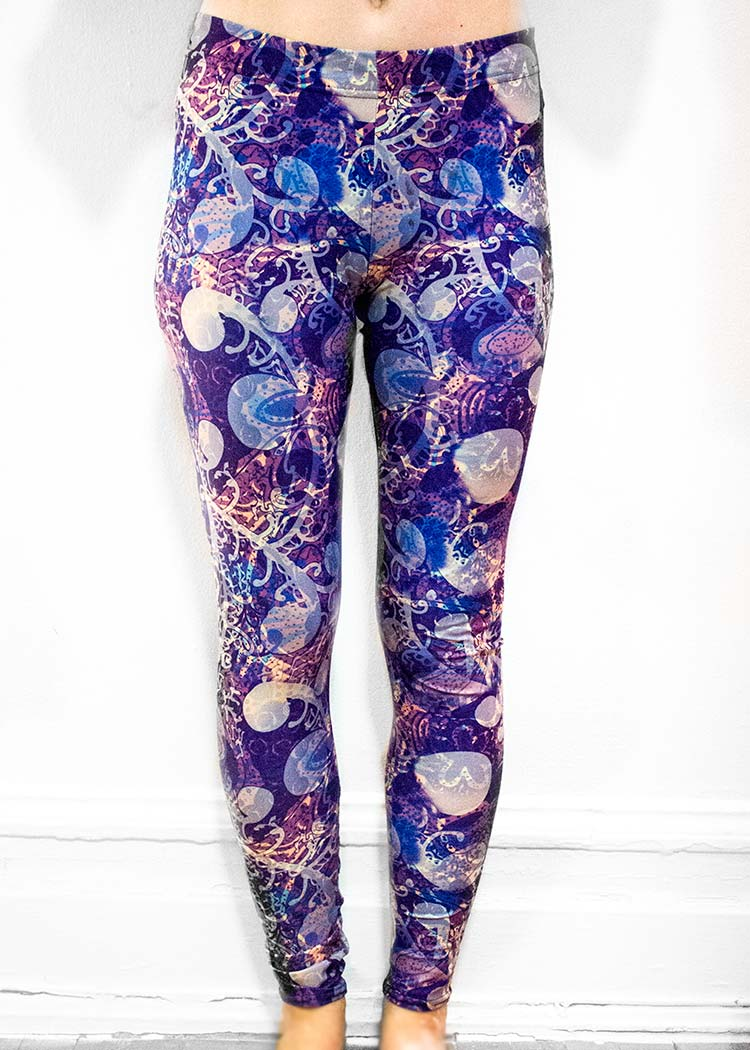 "Michelle's ""Night"" Print Leggings 1"
