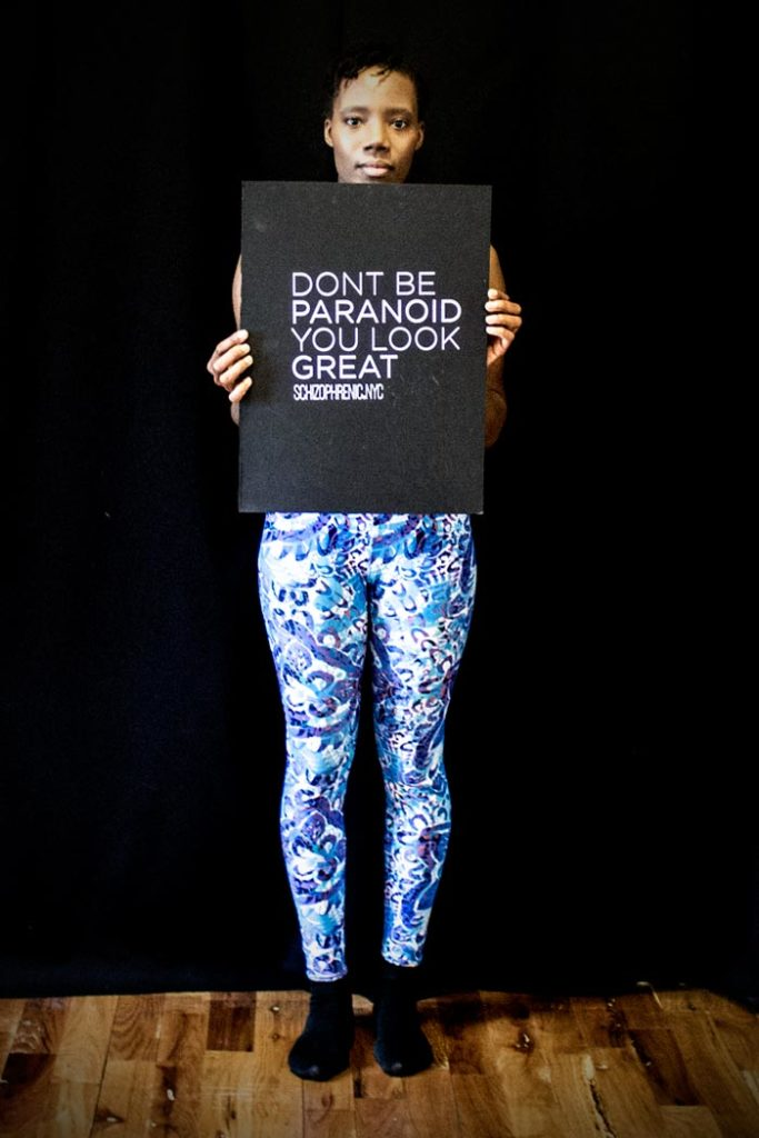 Leggings, ILLusion Leggings and DONT BE PARANOID!, Schizophrenic.NYC Mental Health Clothing Brand, Schizophrenic.NYC Mental Health Clothing Brand
