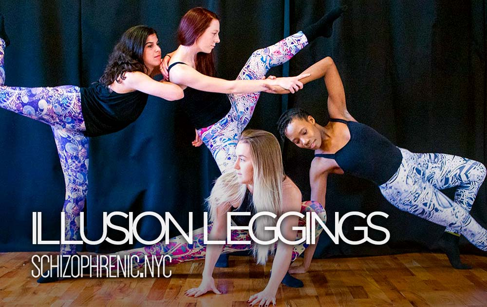 Schizophrenic. Nyc illusion leggings now available 1