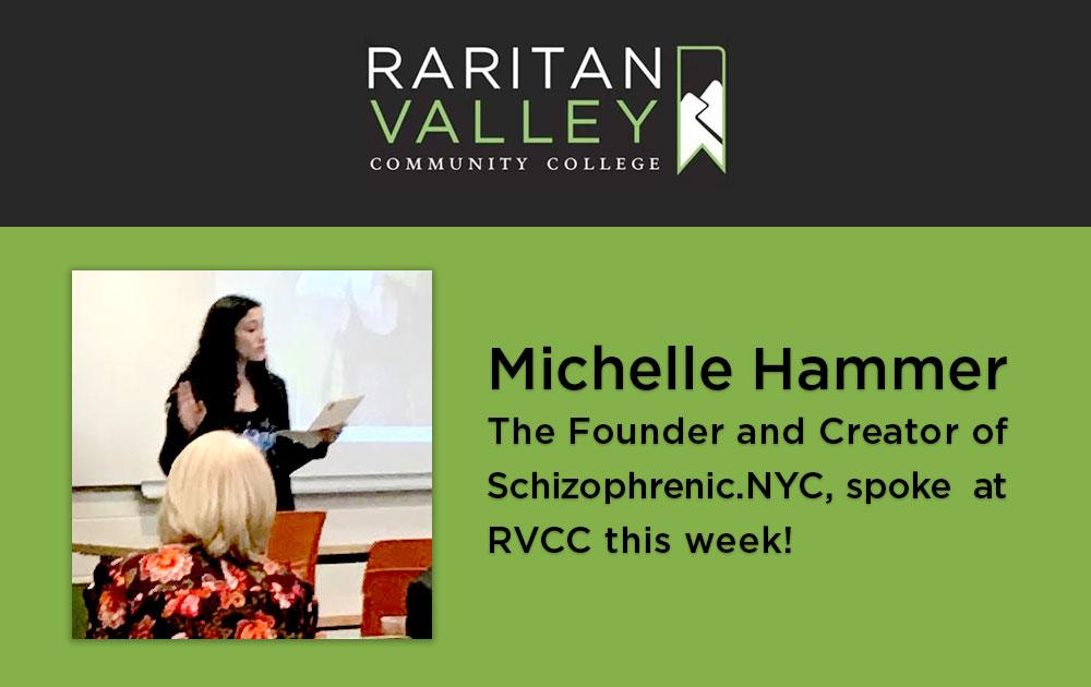 Michelle spoke at Raritan Valley Community College 17