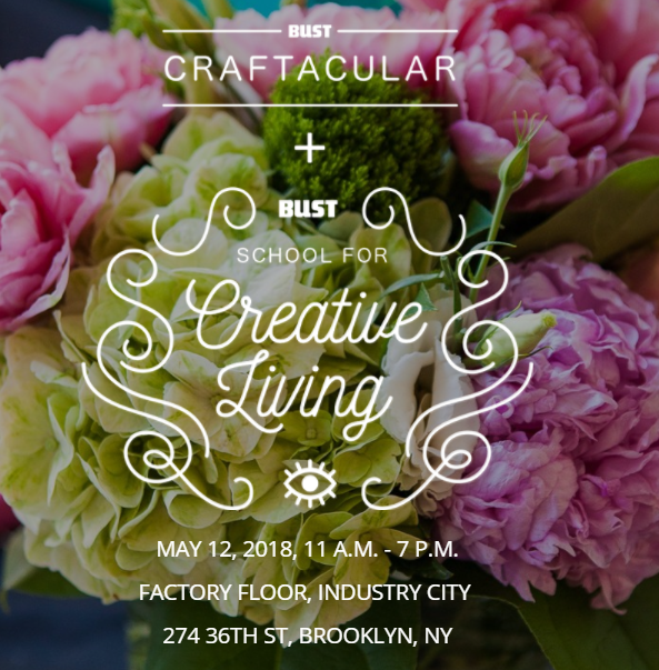 , We will be at BUST Craftacular Saturday, May 12th, Schizophrenic.NYC Mental Health Clothing Brand, Schizophrenic.NYC Mental Health Clothing Brand