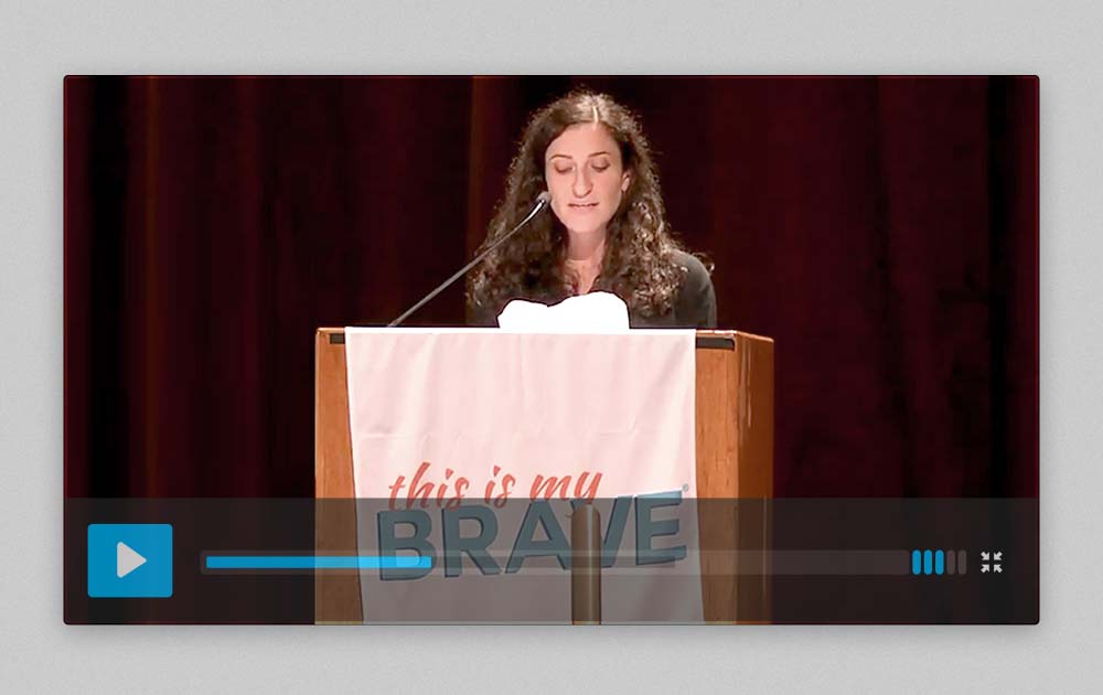 """Speech about Living with and """"Recovering"""" from Schizophrenia at This is My Brave - NYC 6"""