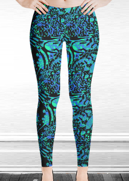 "Michelle's ""Silence"" Print Leggings 5"