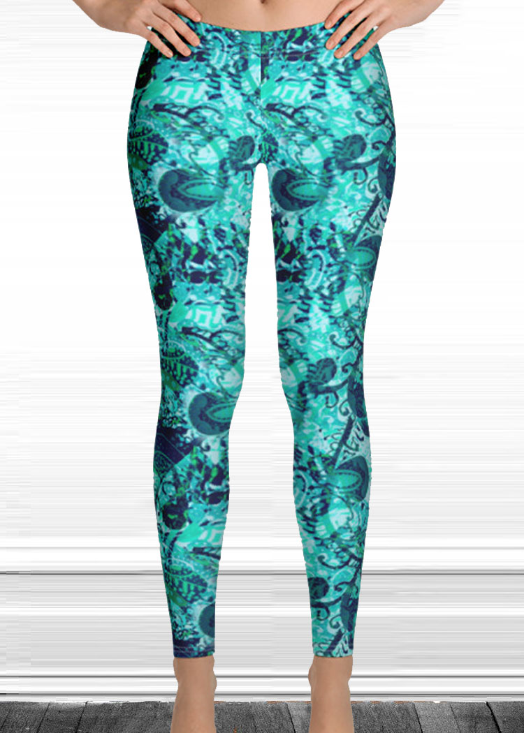 "Michelle's ""Forever"" Print Leggings 1"