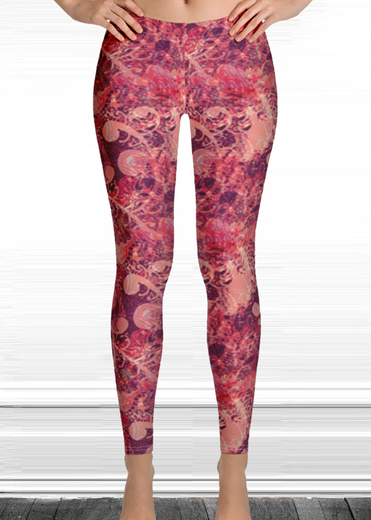 "Michelle's ""Wake Up"" Print Leggings 1"