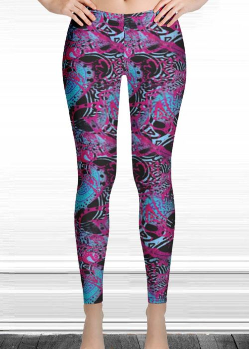 "Michelle's ""Believe"" Print Leggings 1"