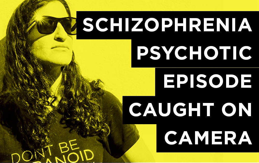 Schizophrenia Episode Caught on Security Camera, Schizophrenic.NYC Mental Health Clothing Brand