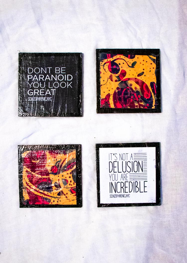 Coasters by Schizophrenic.NYC