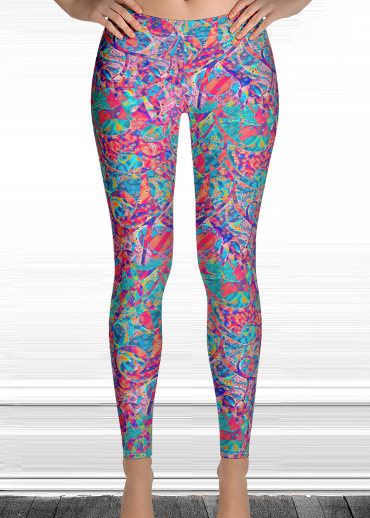 Drip Print Leggings by Schizophrenic.NYC