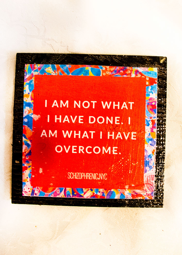 I am not what i have done. i am what i have over come.