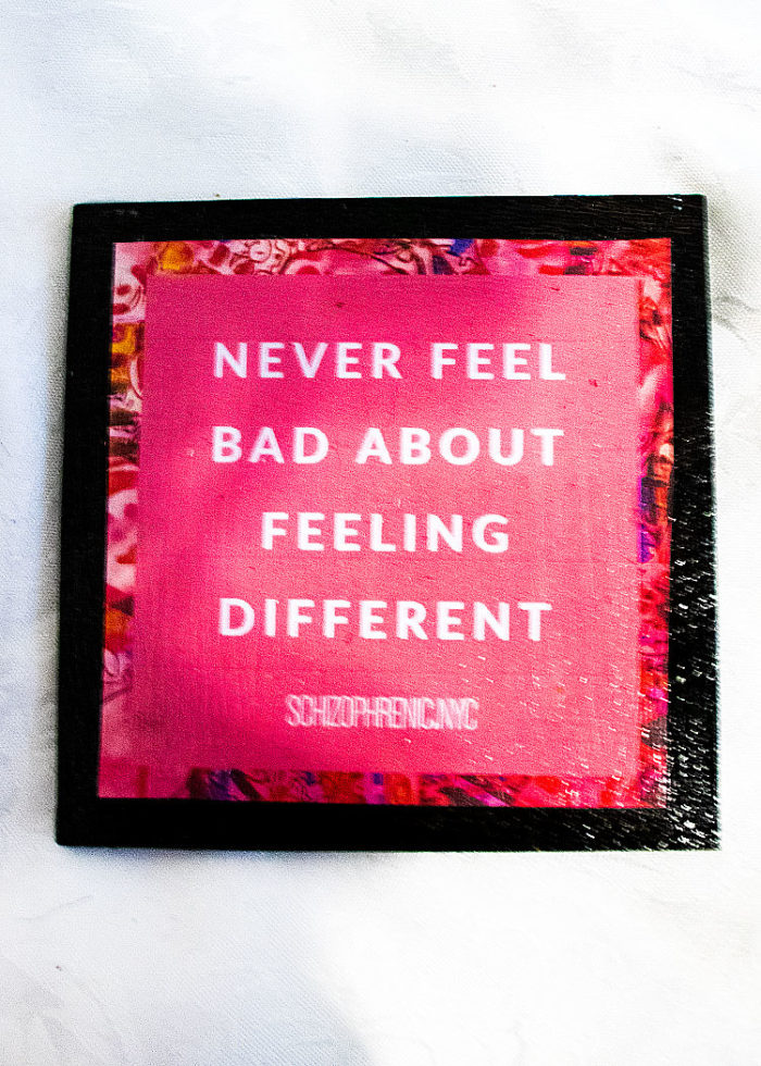 never feel bad about feeling sad - coaster