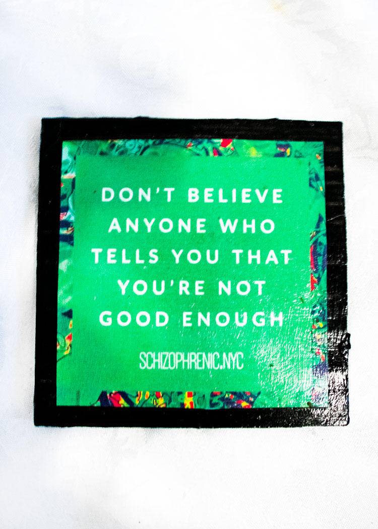 don't let one situation make you feel like you're not good enough