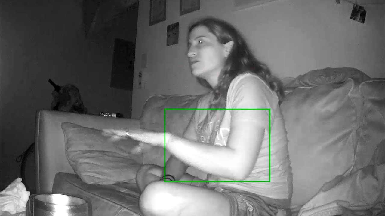 Schizophrenia psychosis episode caught on camera