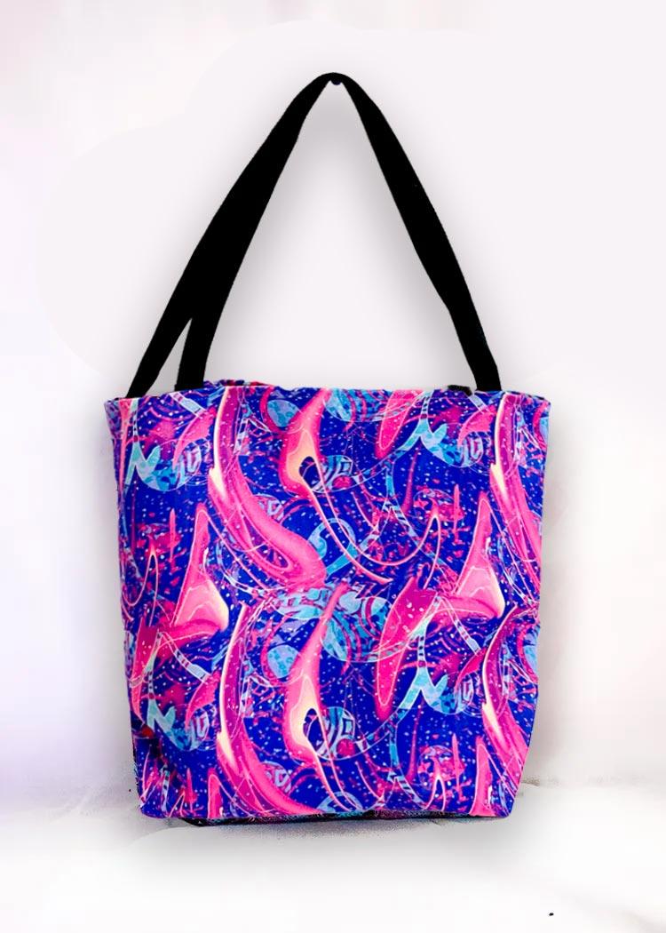 Mental health artwork tote bags
